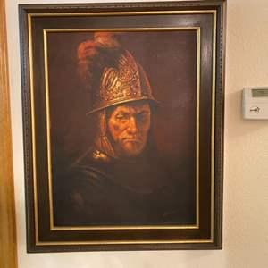 "Lot # 45- Vintage Framed Rembrandt Reproduction ""Man with the Golden Helmet"", 25""x31"""
