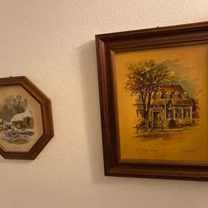 Lot # 46- Vintage: Framed Wall Art.