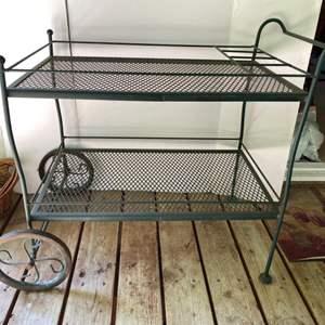Lot # 85- Vintage Metal Patio Serving Cart.