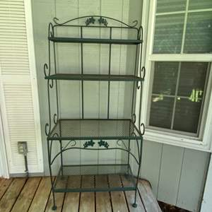 Lot # 88- Four Shelf Metal Plant Stand/Bakers Rack .