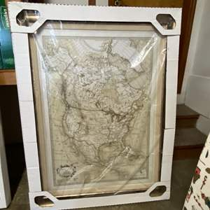 """Lot # 127- Huge Map of the United States from Costco, Never Opened. 38"""" x 50""""."""