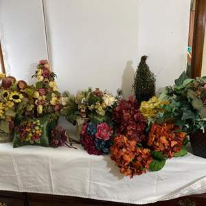 Lot # 134- Faux Floral Decor.