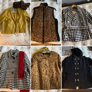 Lot # 159- Snazzy Designer Coat Jackets. Petite M&L. Some with Scarves.
