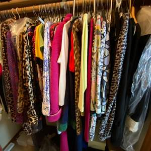 Lot # 162- Womens Wardrobe: Blouses, Sweaters, Quality Designers, Scarf, 70+ items.