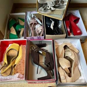 Lot # 170- Stylish Summer Sandals, Size 7.5 or 8. Bandolino, Miz Mooz, Brighton.