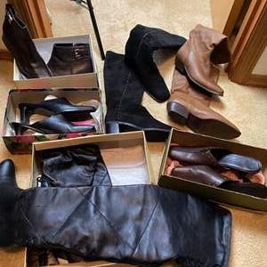 Lot # 172- Stylish Boots and Shoes. Size Vary (see pics).