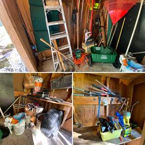 Lot # 190- Pickers Lot....Take what you want from the Garden Shed.