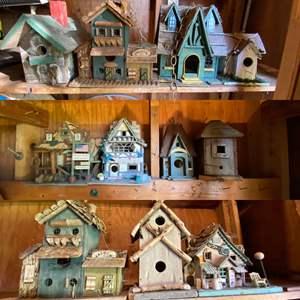 Lot # 191- A Village of Bird Houses.