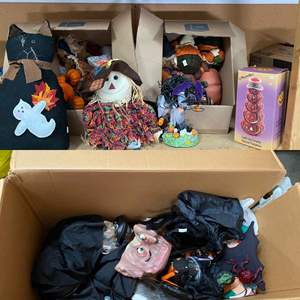 Lot # 205- Large Box full of Fun Halloween and Autumn Decoration.