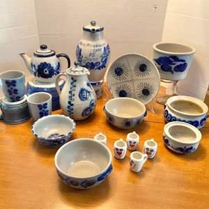 Lot # 232- Ceramic Pitchers, Bowls, Cups, Plate.