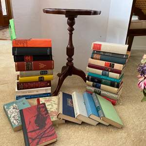 Lot # 253- Vintage German Books, Bombay Co. Accent Table.