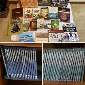 Lot # 290- America and War Stories, WWII Encyclopedia, Readers Digest Explore America
