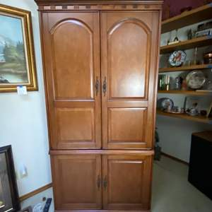 """Lot # 291- Nice TV Armoire, The Doors have been removed. 38"""" x 78""""h x 21""""d. Bring help to move and load. No stairs."""
