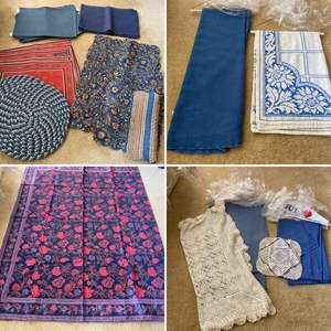Lot # 292- Vintage Tablecloths Pressed and Cleaned, Placemats.