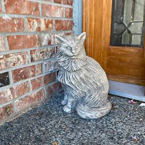 Lot # 299- Concrete Cat Greeter.