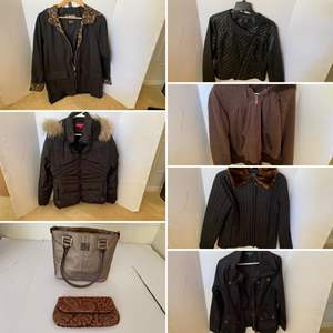 Lot # 304- Cute Coats for when it gets cold, Purses.