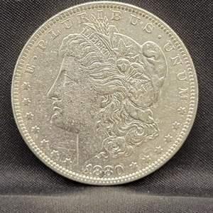 Lot 1 - 1880-O AU Morgan Silver Dollar