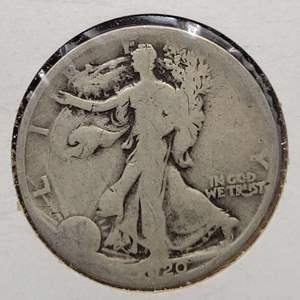 Lot 11 - 1920-D Silver Walking Liberty Half Dollar