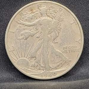 Lot 12 - 1940-S Silver Walking Liberty Half Dollar
