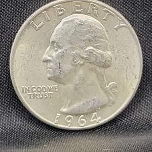 Lot 16 - 1964 UNC SILVER Washington Quarter Dollar