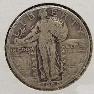 Lot 18 - 1929 SILVER Standing Liberty Quarter Dollar