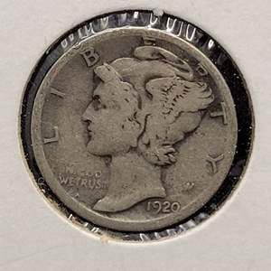 "Lot 30 - 1920-D Silver Winged Liberty Head ""Mercury"" Dime"