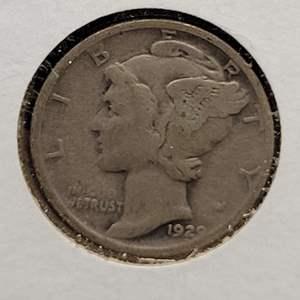 "Lot 31 - 1929-S Silver Winged Liberty Head ""Mercury"" Dime"