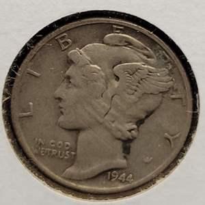 "Lot 32 - 1944 Silver Winged Liberty Head ""Mercury"" Dime"