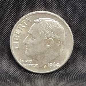 Lot 33 - 1964D Uncirculated SILVER Roosevelt Dime