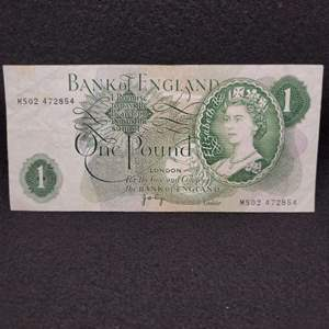 Lot 61 - Vintage Bank of England One Pound Currency Note circa 1960