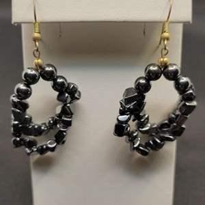 Lot 68 - Hematite Dangle Earrings