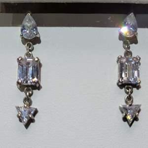 Lot 70 - Sterling Silver Dangle Earrings