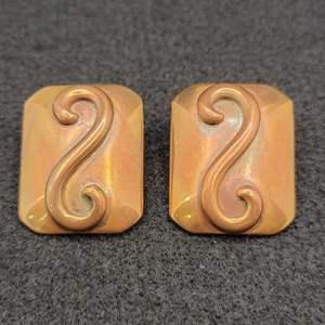 Lot 76 - Whiting & Davis Co. Vintage Pierced Earrings