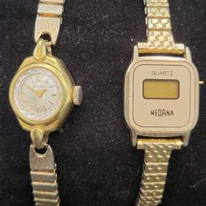 Lot 87 - Vintage Ladies Watches MEDANA and SEARS