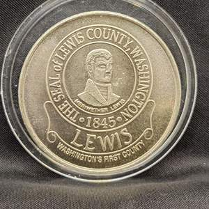 Lot 91 - Vintage LEWIS County Wasington Centennial Token, 1845-1945