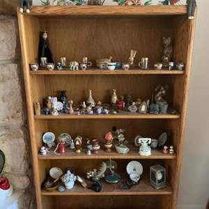 Lot #93 - Glass Animal Figurines, Tea Cups, Turkish Tea Glasses, Asian Vase and Many More Collectibles