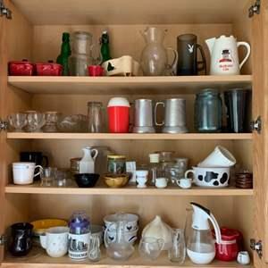 Lot #201 - Covered Ramekins, Playboy Mugs and an Assortment of Kitchen Necessities