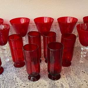 Lot # 1 - Fantastic Red Glassware