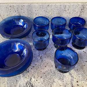 Lot # 3 - Another Gorgeous Blue Glass Lot * Hand Blown