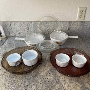 Lot # 13 - Corning Ware with glass Pie Plates