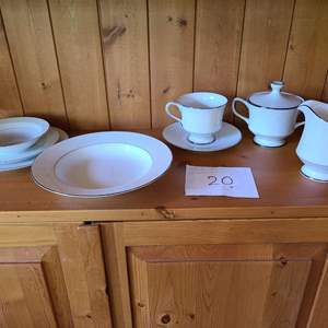 Lot # 20 - Sango China Dishes Set * Plates, Bowls, & Cups w/ Saucers