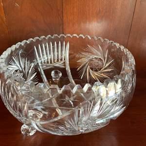 Lot # 53 - Beautiful Footed Crystal Bowl