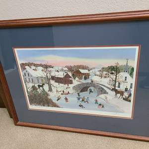 """Lot # 60 - Artist Will Moses Signed & Numbered Lithograph 271/500 """"Through the Arch"""" w/ Certificate of Authenticity"""