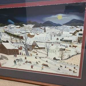 """Lot # 61 - Will Moses Signed & Numbered Lithograph """"Moonlight Coasting"""" 231/350"""
