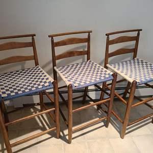 Lot # 62 - 3 Fantastic Bar Stools * Furniture