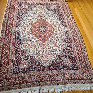 Lot # 72 - Another Gorgeous Rug * Thinner Pile * Blues & Burgundy Design