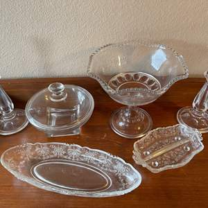 Lot # 86 - Cut Crystal and Glass Serving Pieces