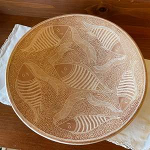 Lot # 97 - Gorgeous Hand Made Bowl with Fish