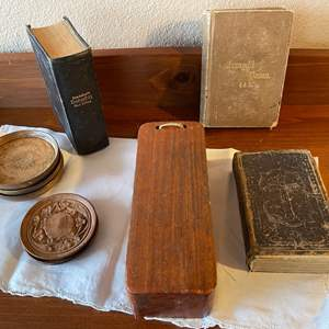 Lot # 98 - Collectible Books * 1872 * 1886 * Carved Pieces * Musical Instrument