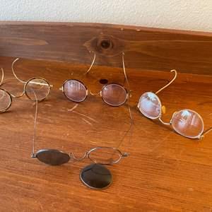 Lot # 106 - Antique Eyeglasses * 1 is Shur-On 12K Gold Filled Frame